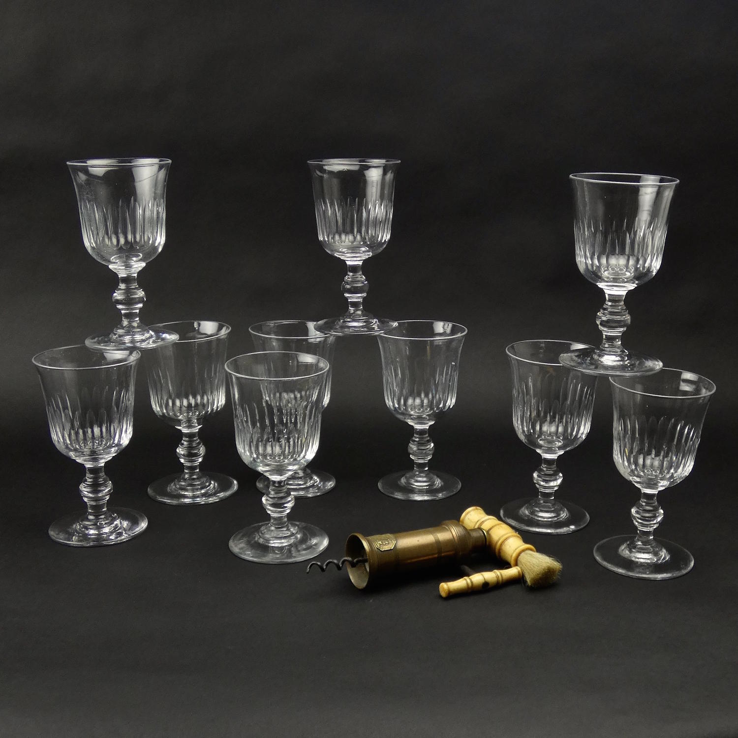 10 Crystal Wine Glasses
