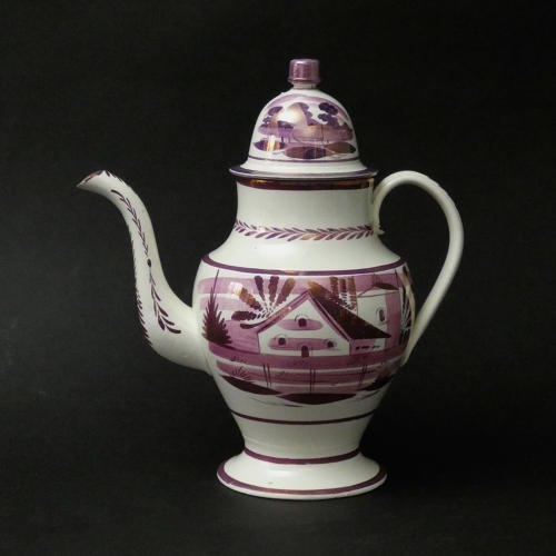 House Pattern Coffee Pot