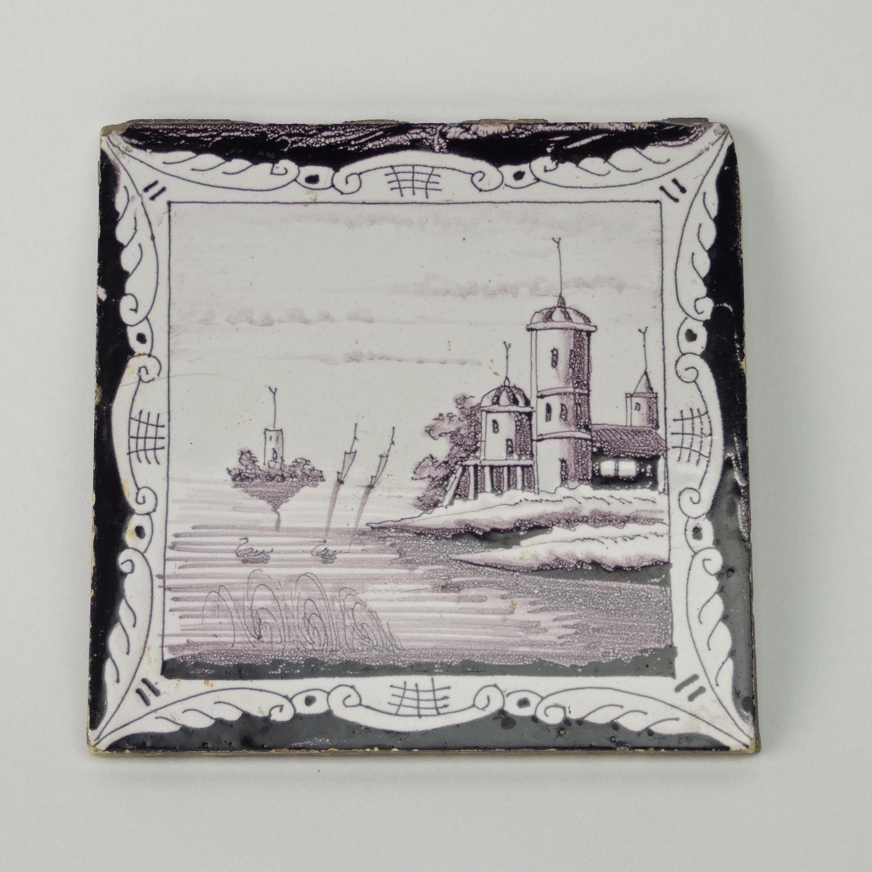 Manganese Delft Tile