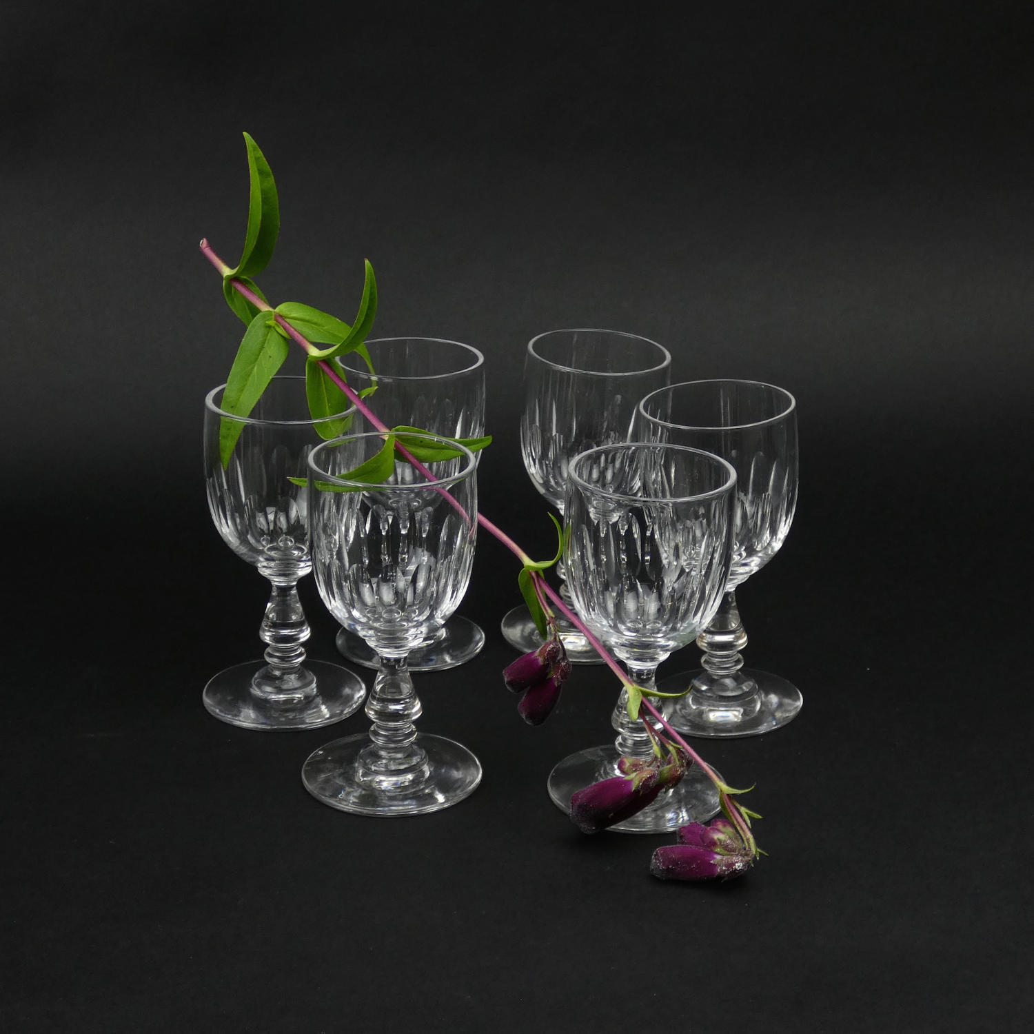 French Crystal Port Glasses