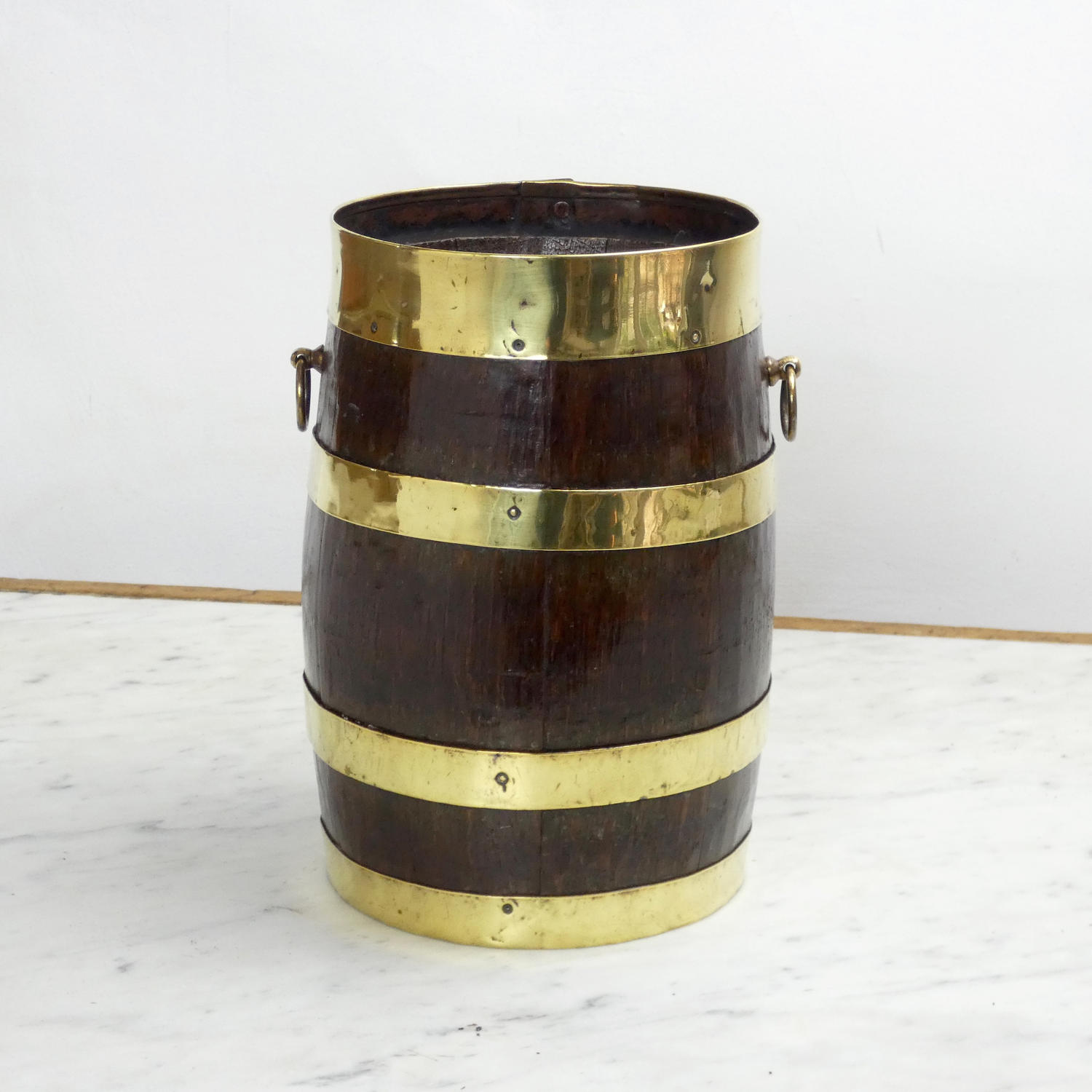 Small, Brass Bound Barrel