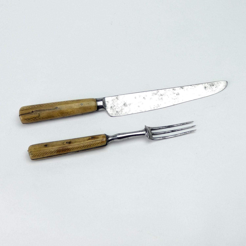 Bone Handled Knife and Fork