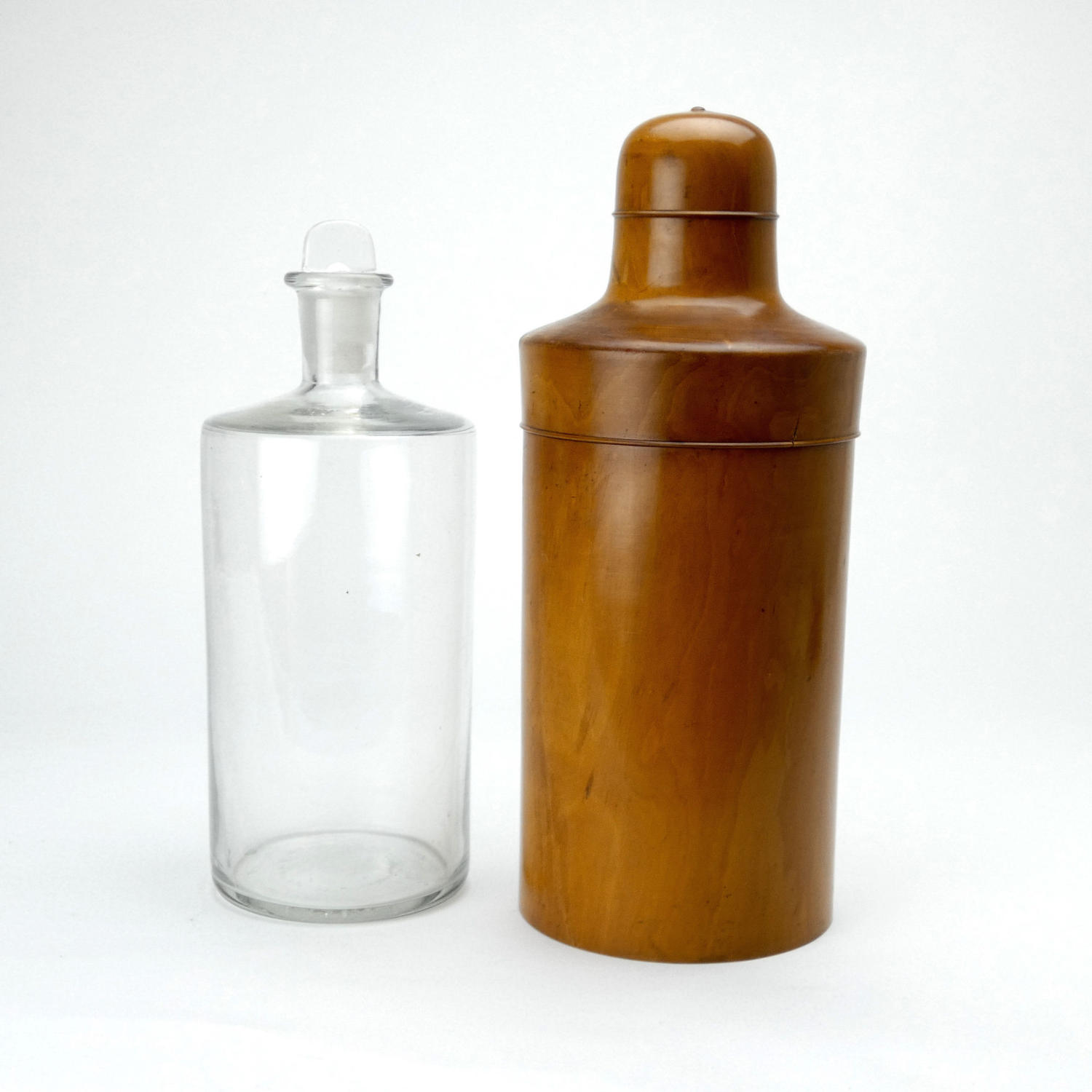 Large Medicine Bottle in Case