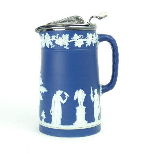 Tapered Jug with Plated Lid