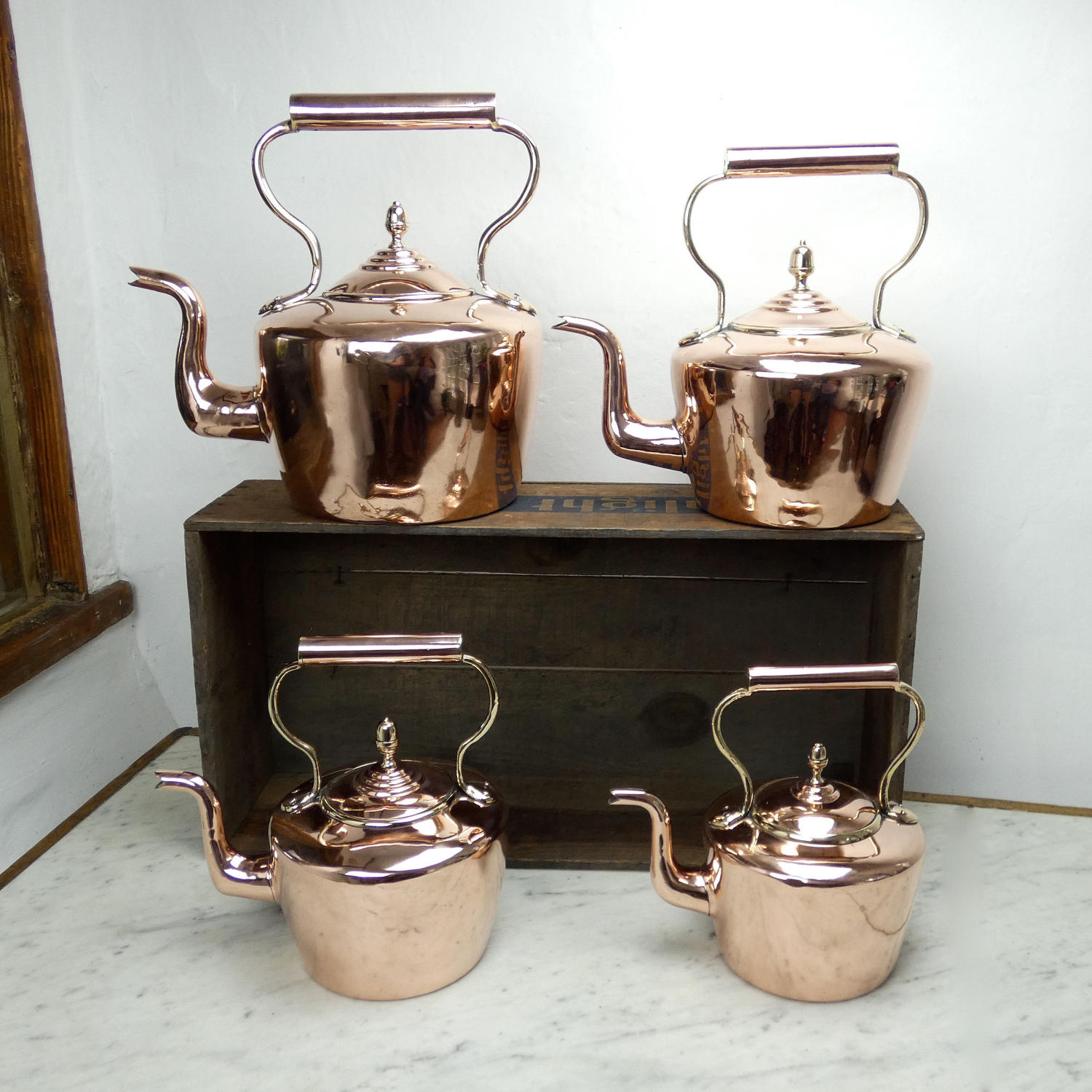Graduated Set of Kettles