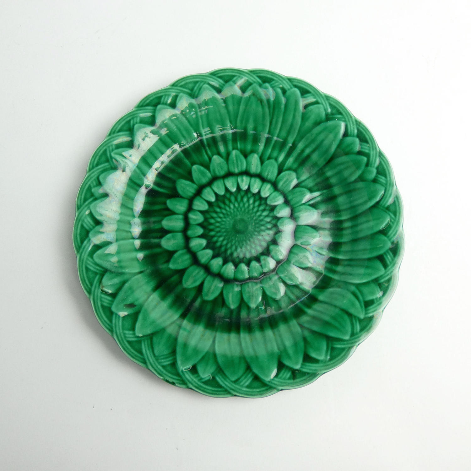 Majolica Sunflower Plate