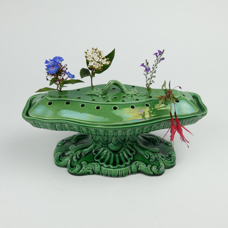 Unusual Majolica Violeteer