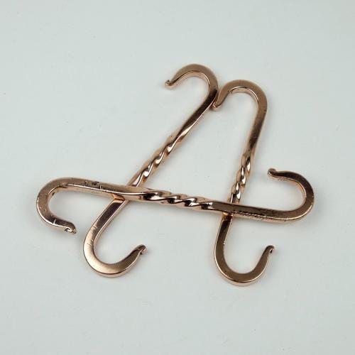 3 Copper Hooks