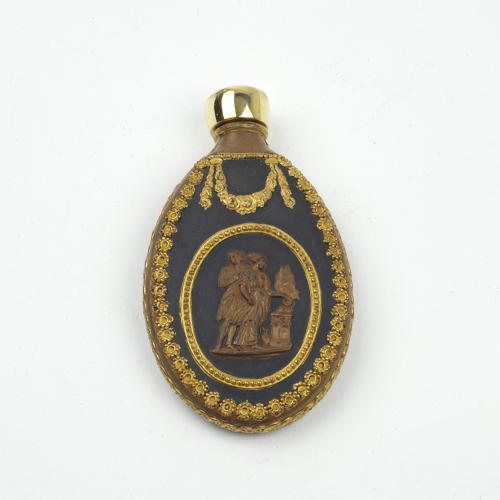 Bronzed and Gilded Perfume Bottle