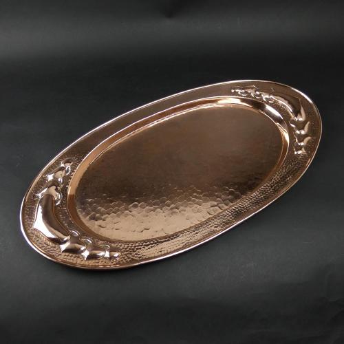 Arts & Crafts copper tray.