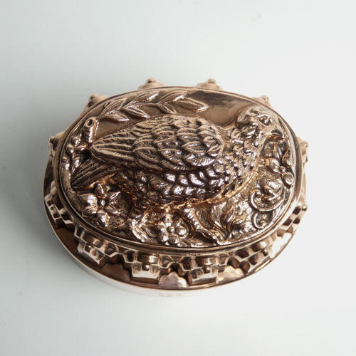 Antique French copper mould with game bird