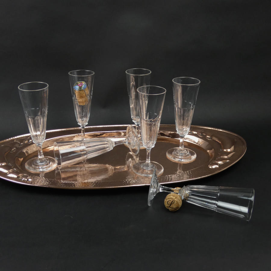 1920's crystal champagne flutes