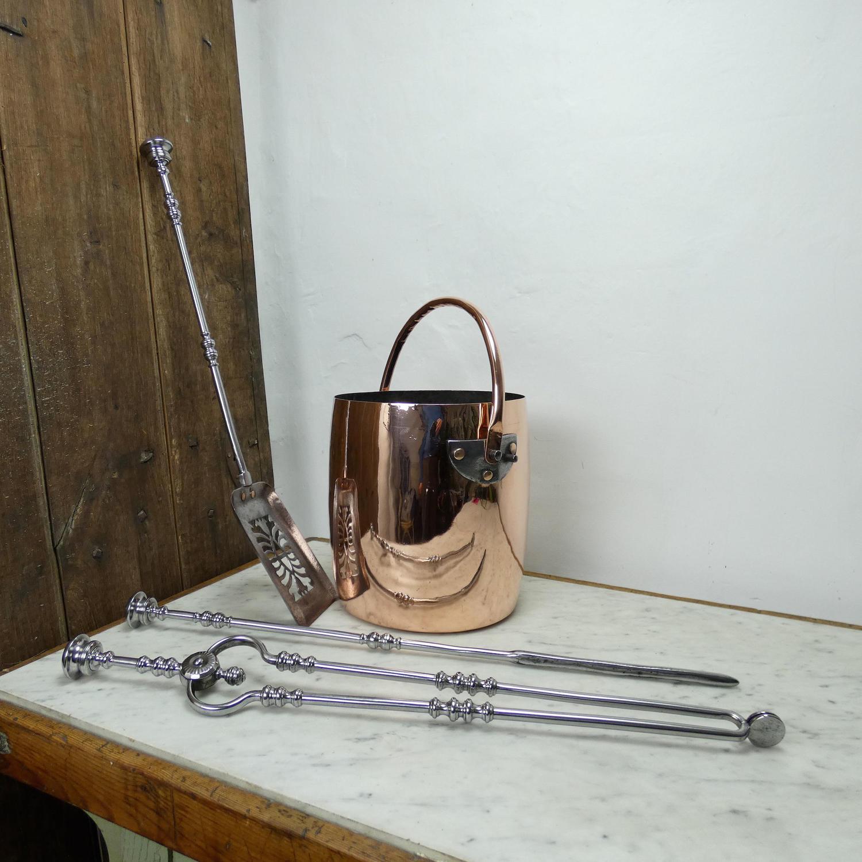 Large copper bucket