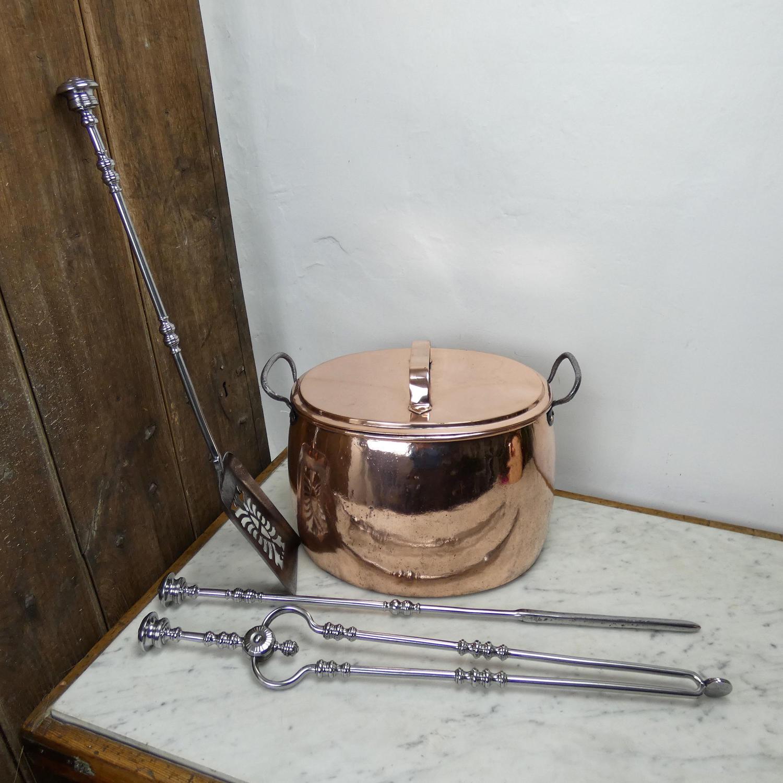 Large, antique cooking pot