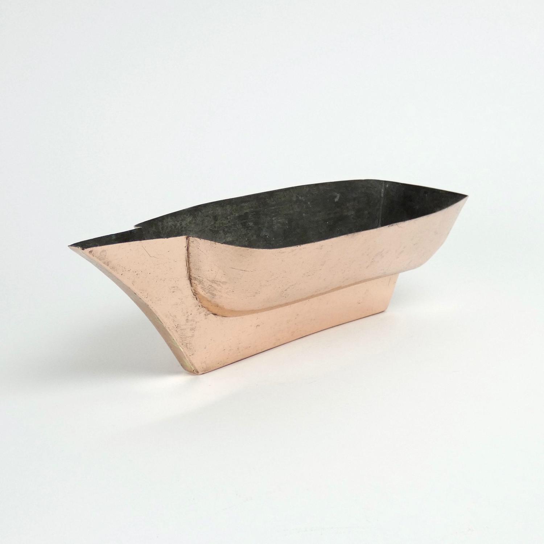 Rare copper boat mould