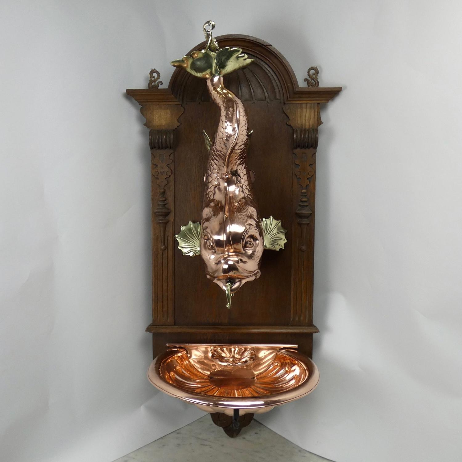 French copper water feature