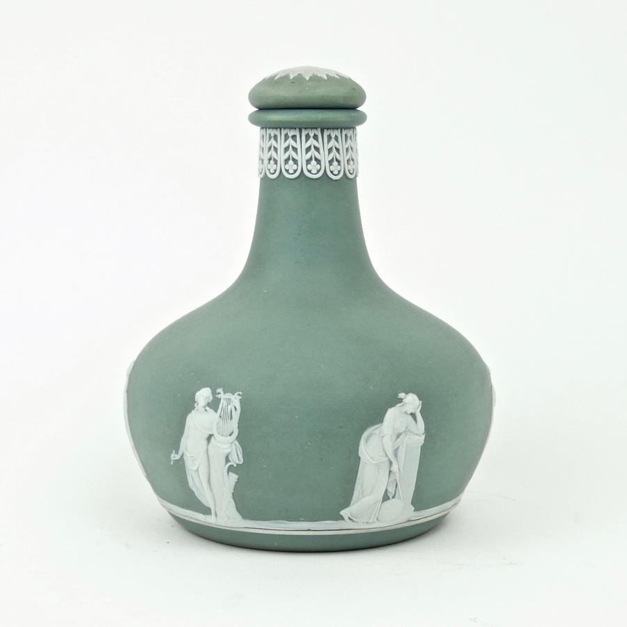 Green jasper liqueur bottle