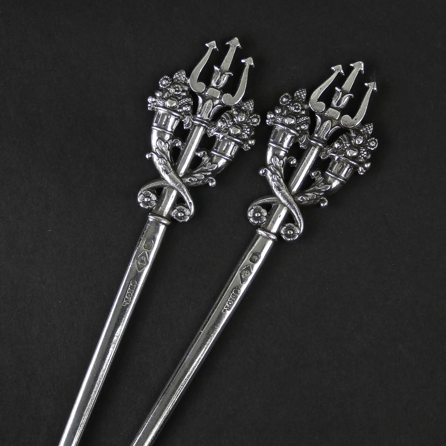 Silver skewers by Odiot.