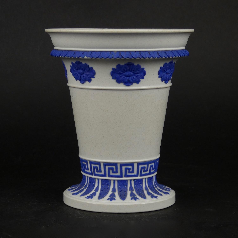 Stoneware flower vase.