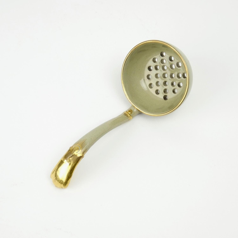Wedgwood drab ware ladle