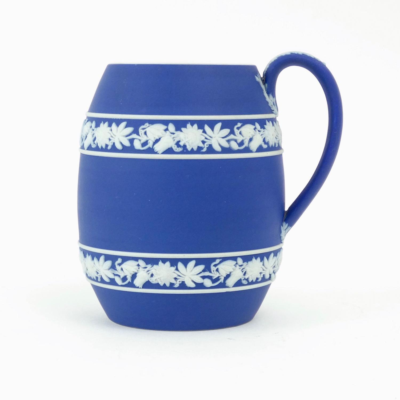 Unusual blue jasper mug