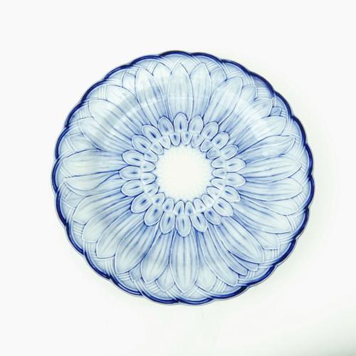 Blue sunflower plate