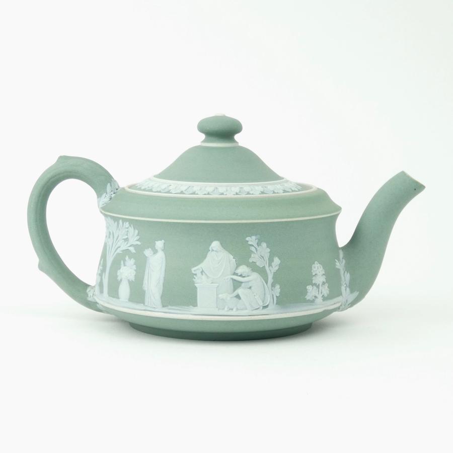 Green jasper 'Etruscan' teapot