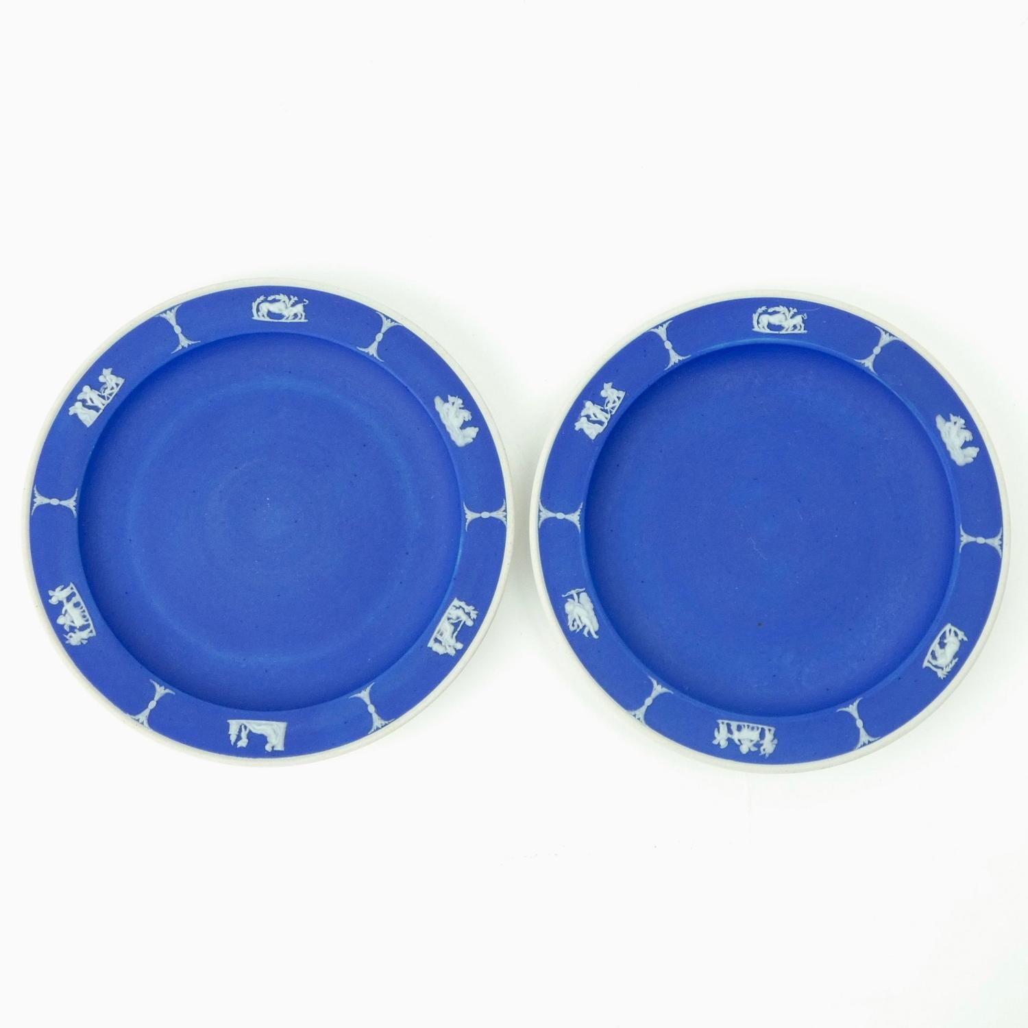 Pair of jasper tea plates