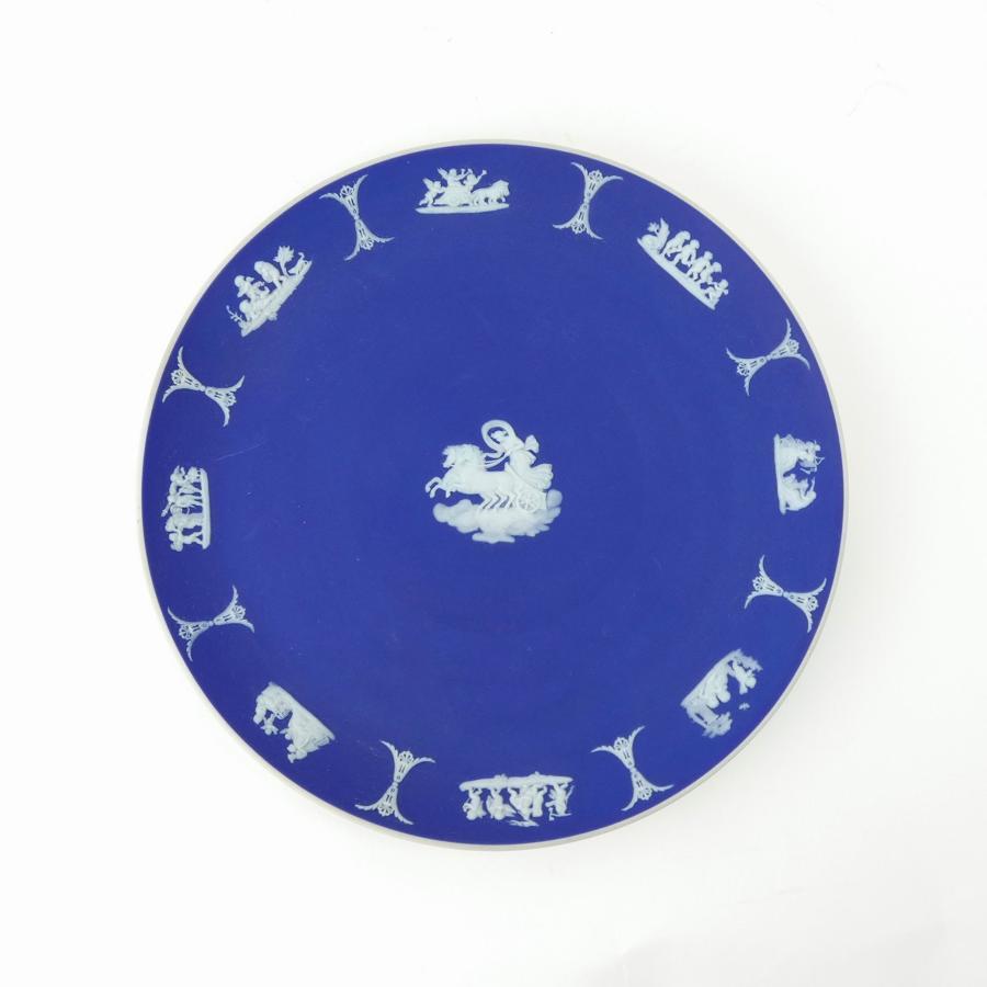 Dark blue jasper cabinet plate