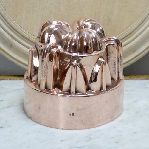 Ornate copper mould