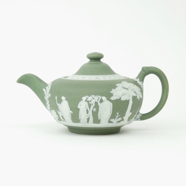 Green jasper teapot