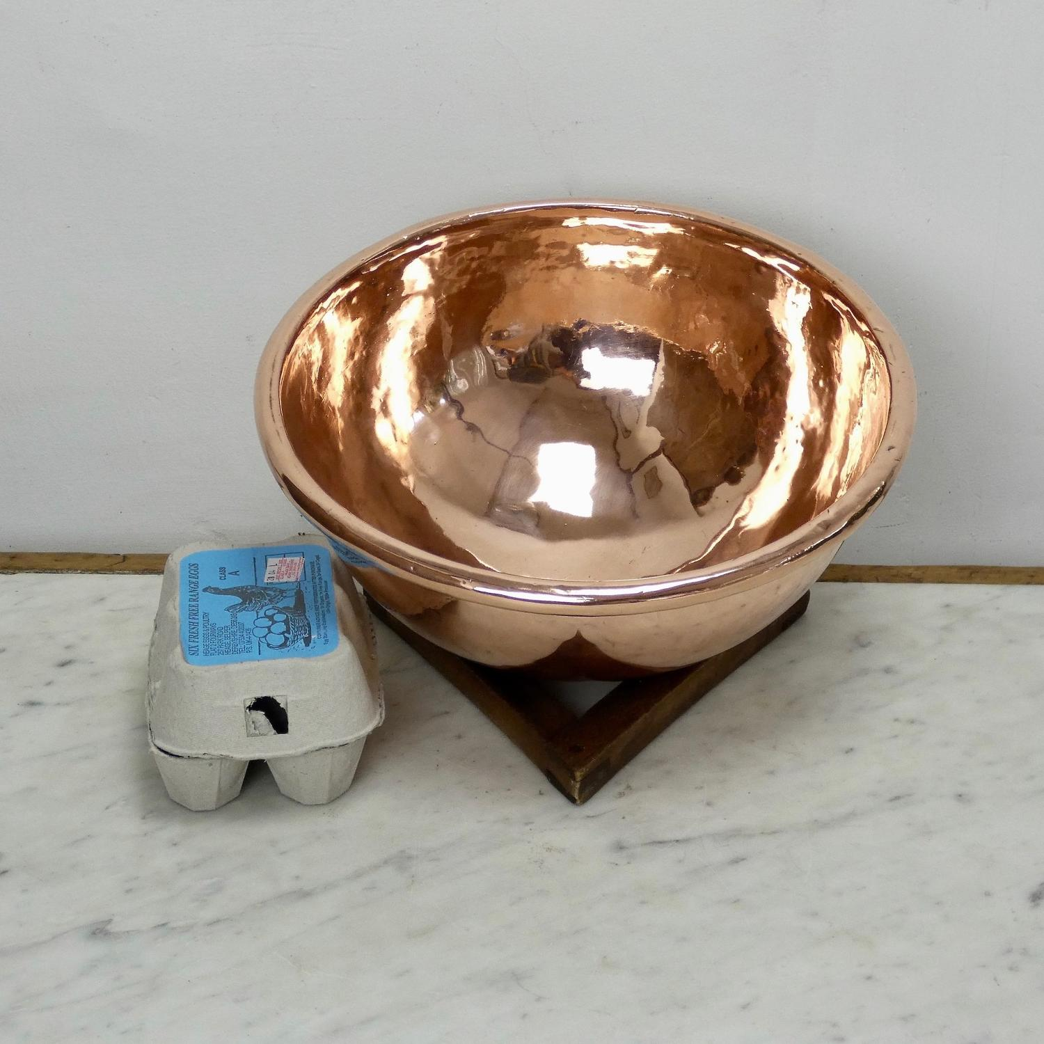 Small French copper egg bowl