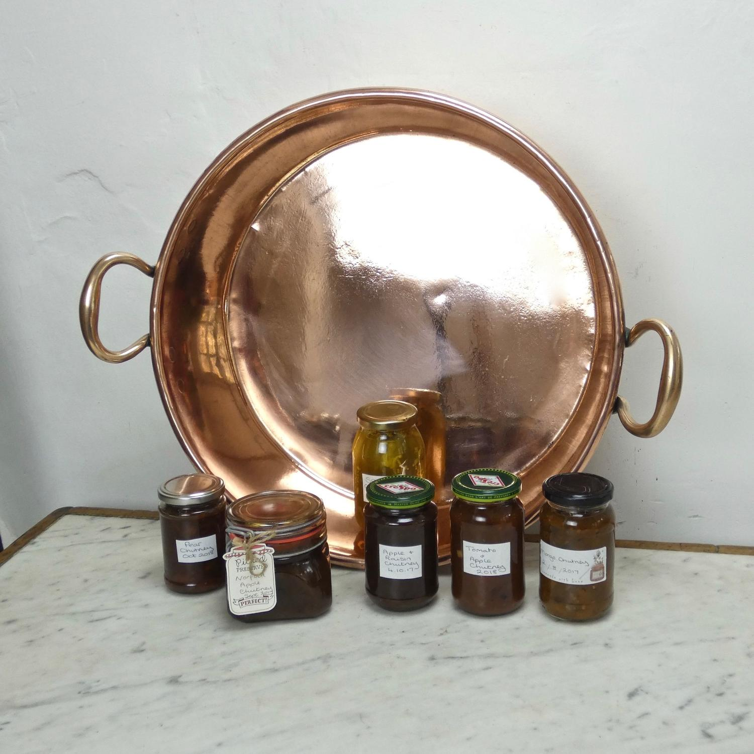 Large English preserve pan