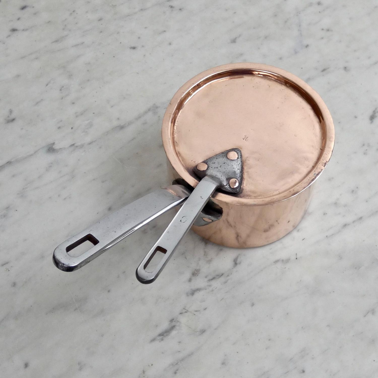 French copper saucepan