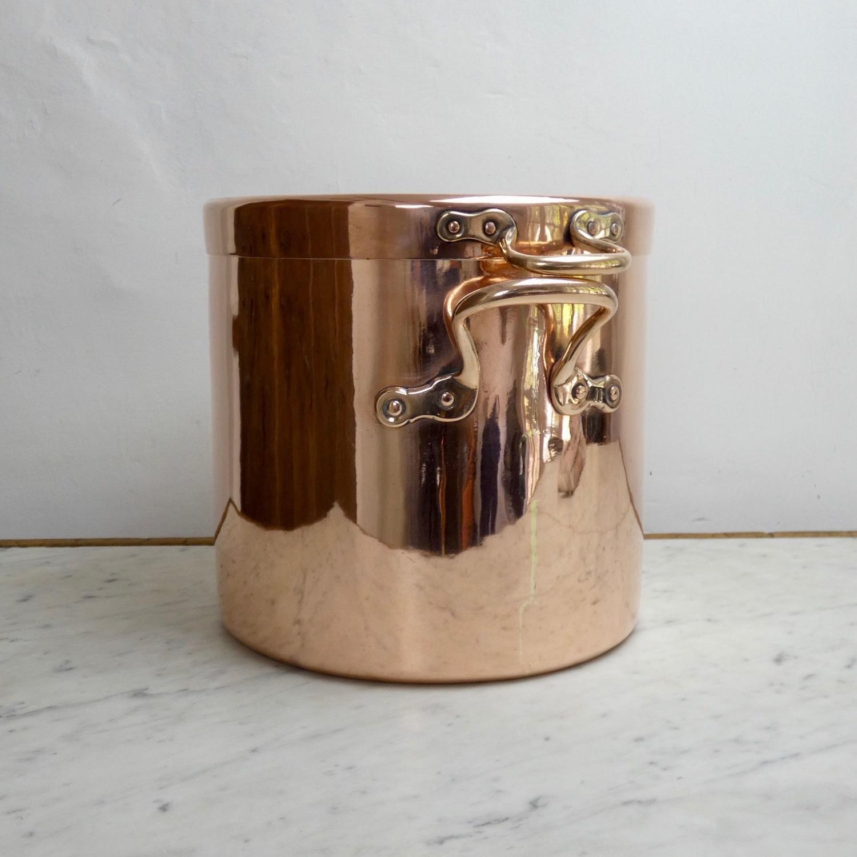English copper stockpot by Benhams