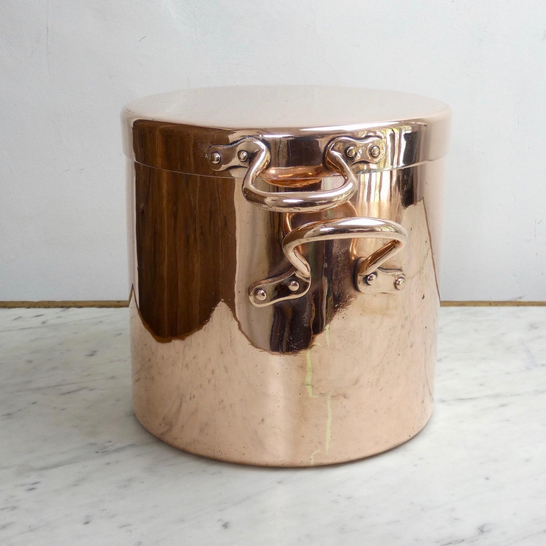 English copper stockpot.