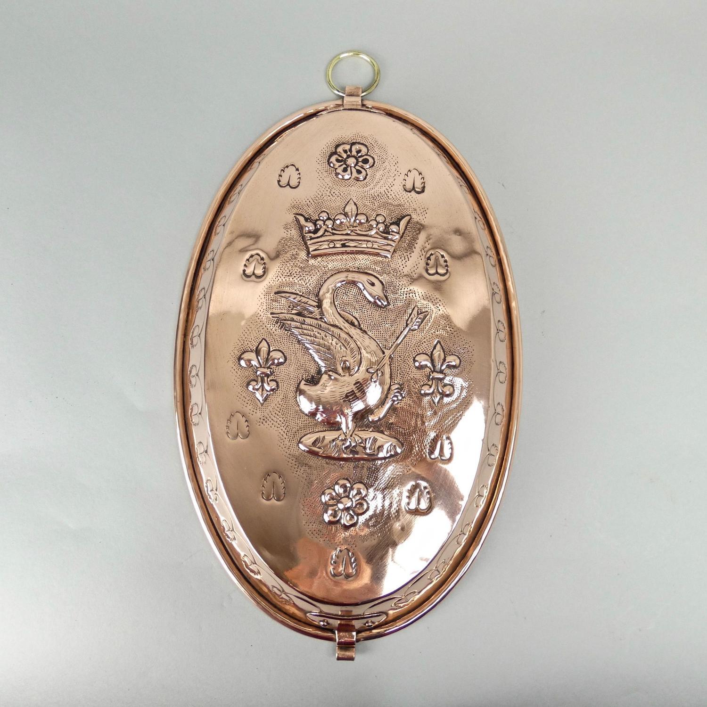Rare, French, heraldic copper dish.