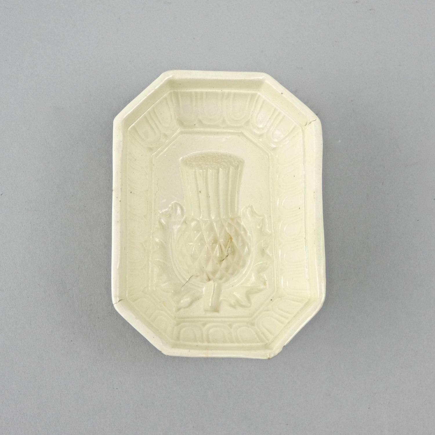 Miniature creamware thistle mould
