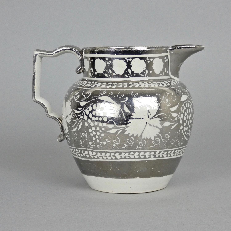 Silver resist, lustre jug