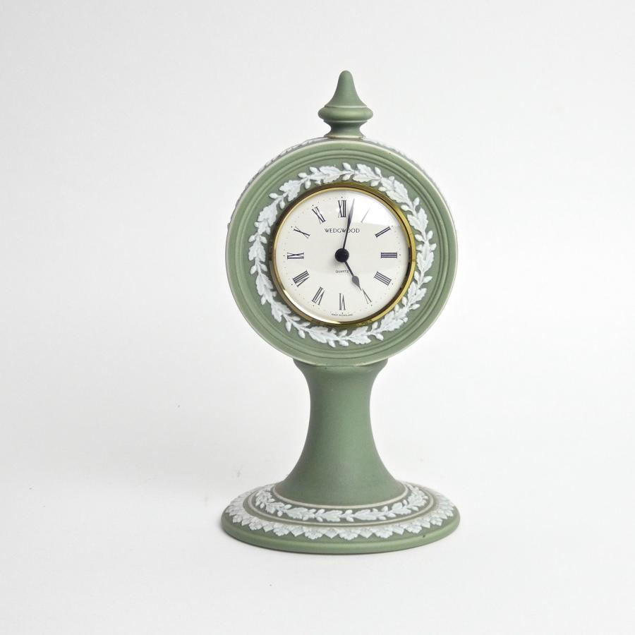 Unusual green jasper clock