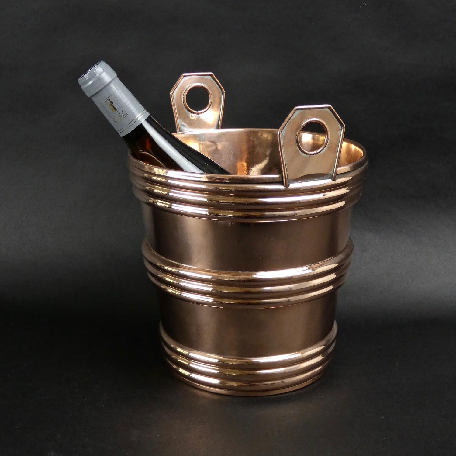Copper champagne cooler