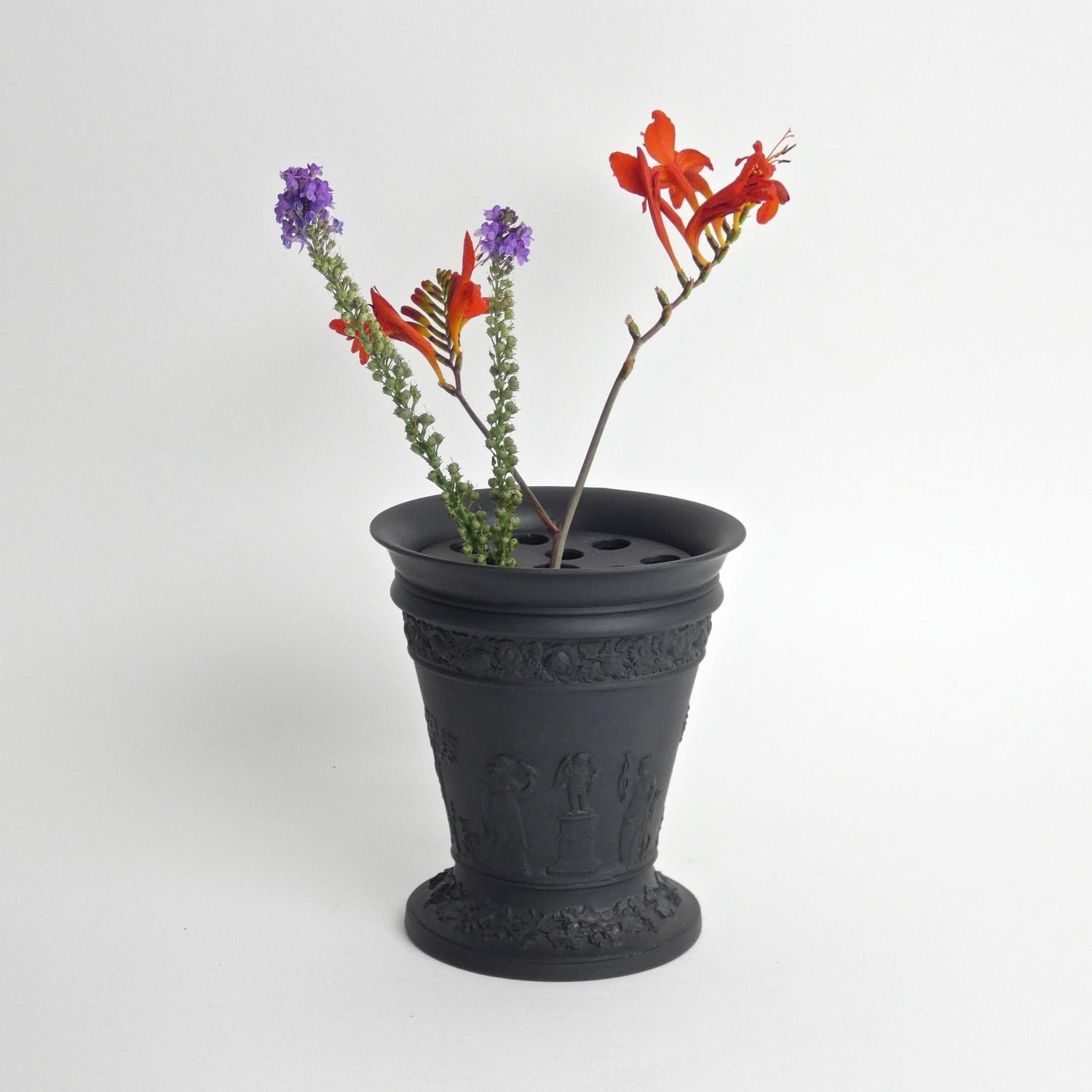 Wedgwood Basalt bough pot