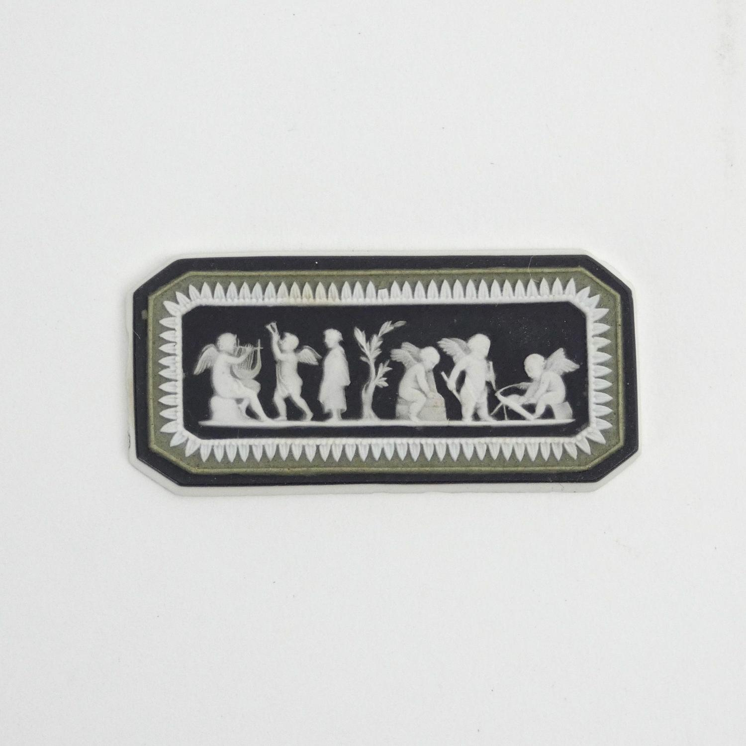 18th century, Wedgwood black and green jasper cameo