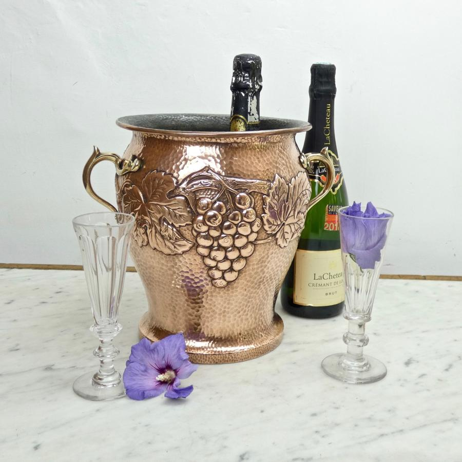 German copper champagne cooler