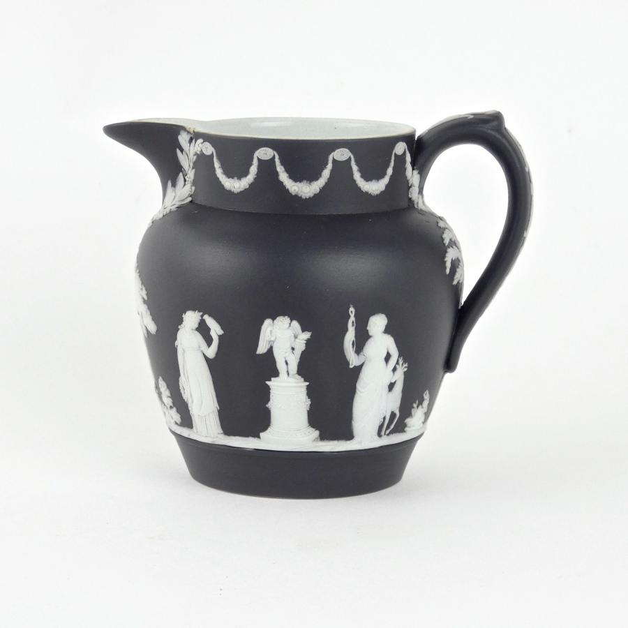 Wedgwood black and white jasper milk jug