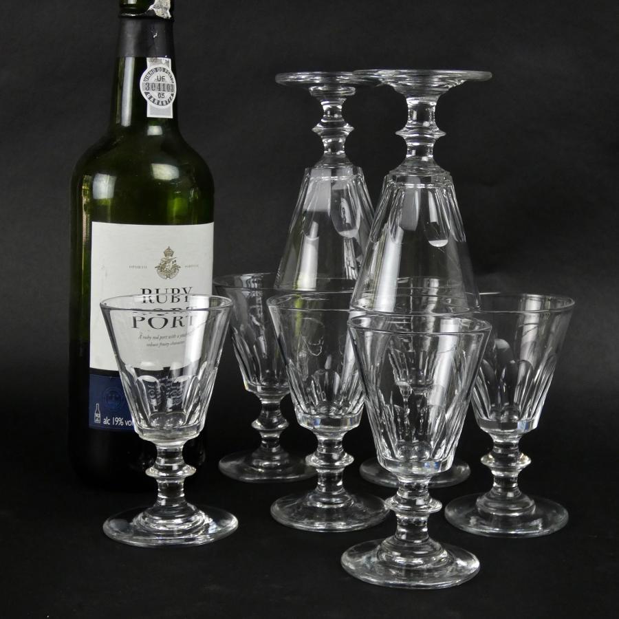 Set of 19th century port glasses