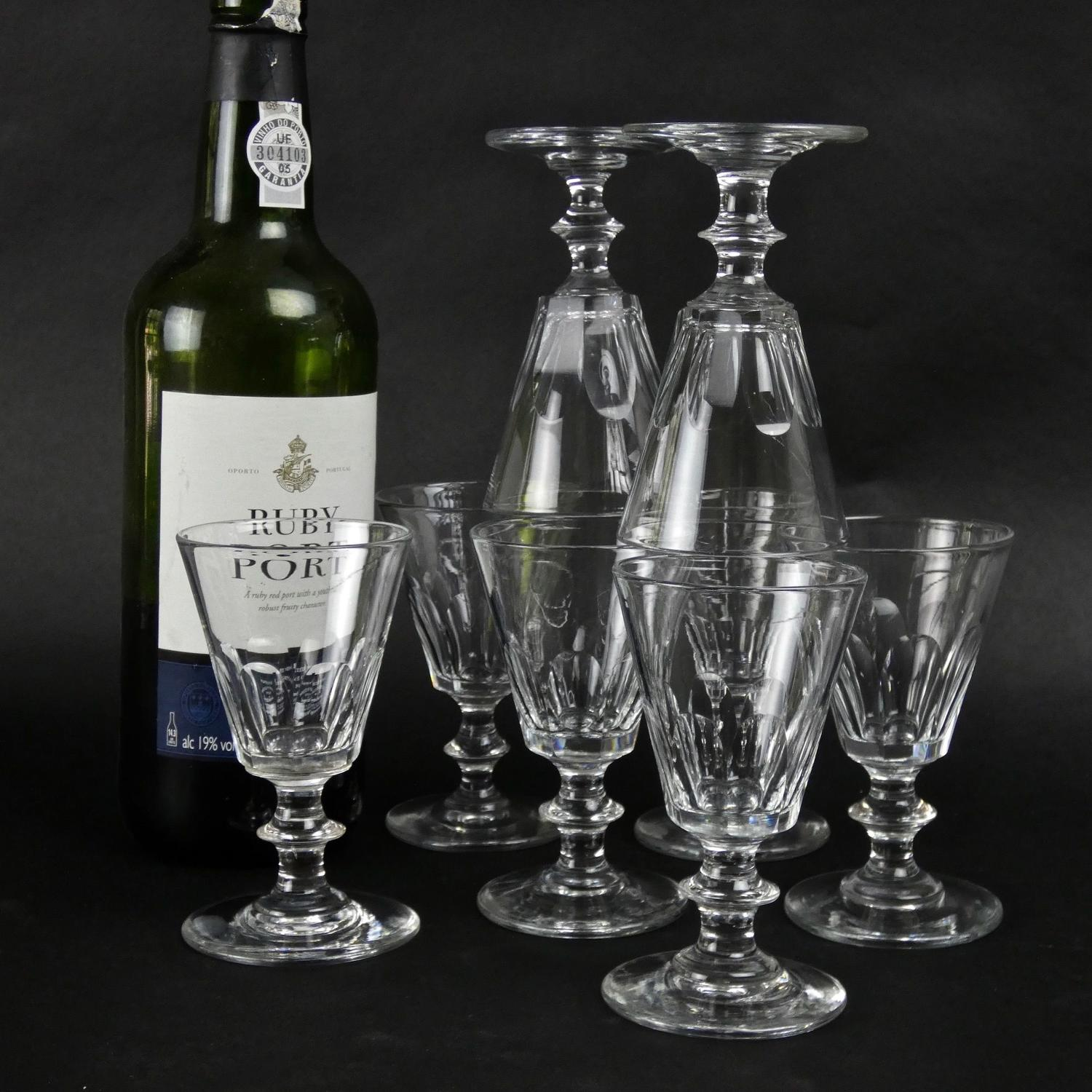Set of 19th century port glasses
