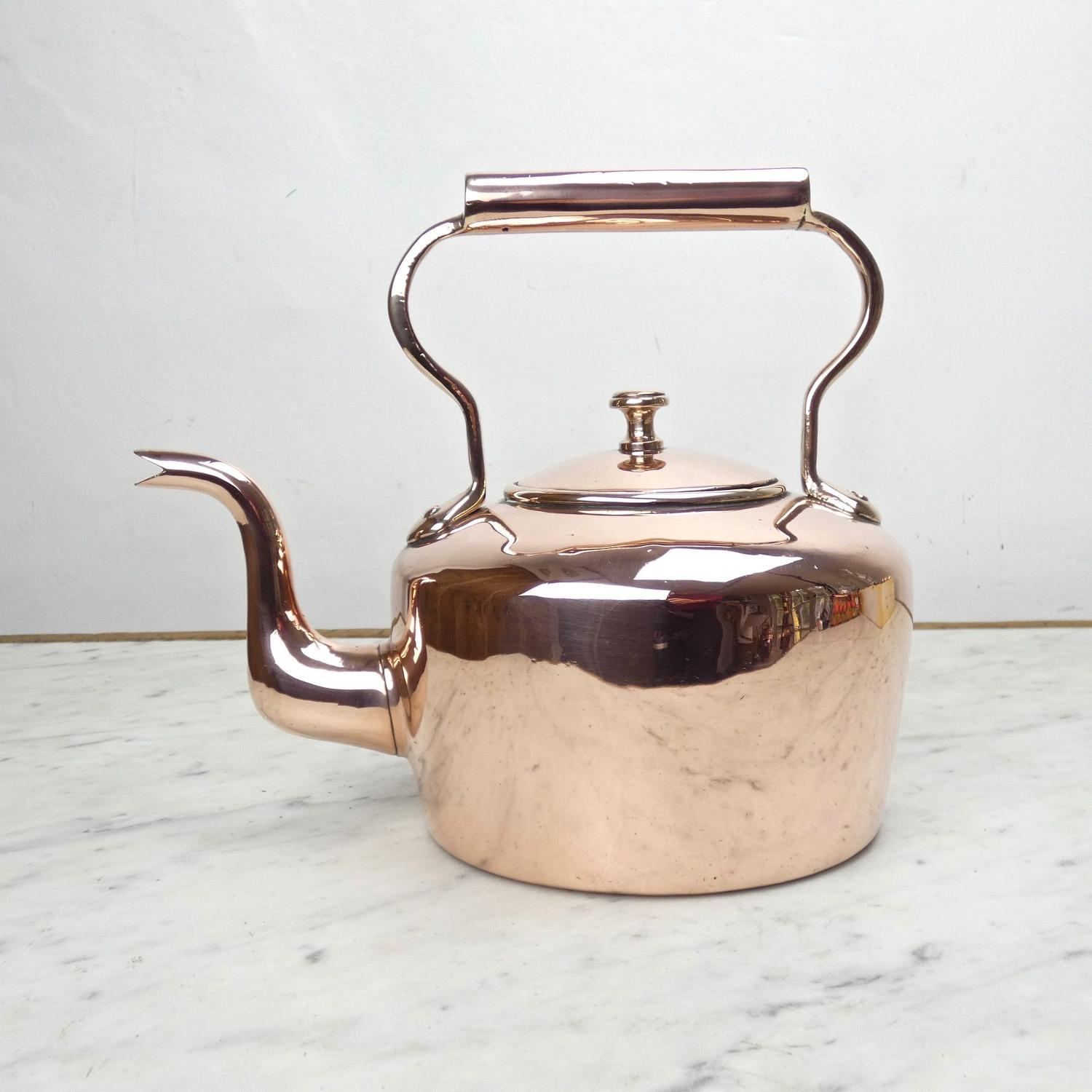 English copper kettle.