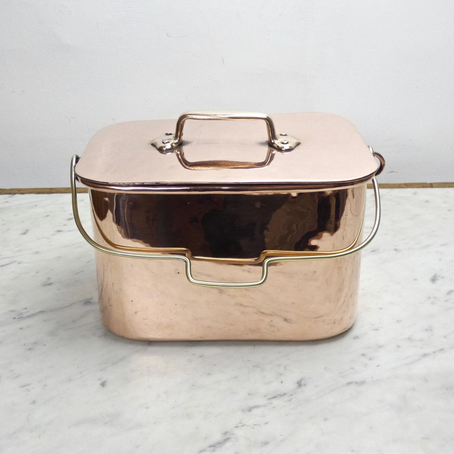 French copper casserole