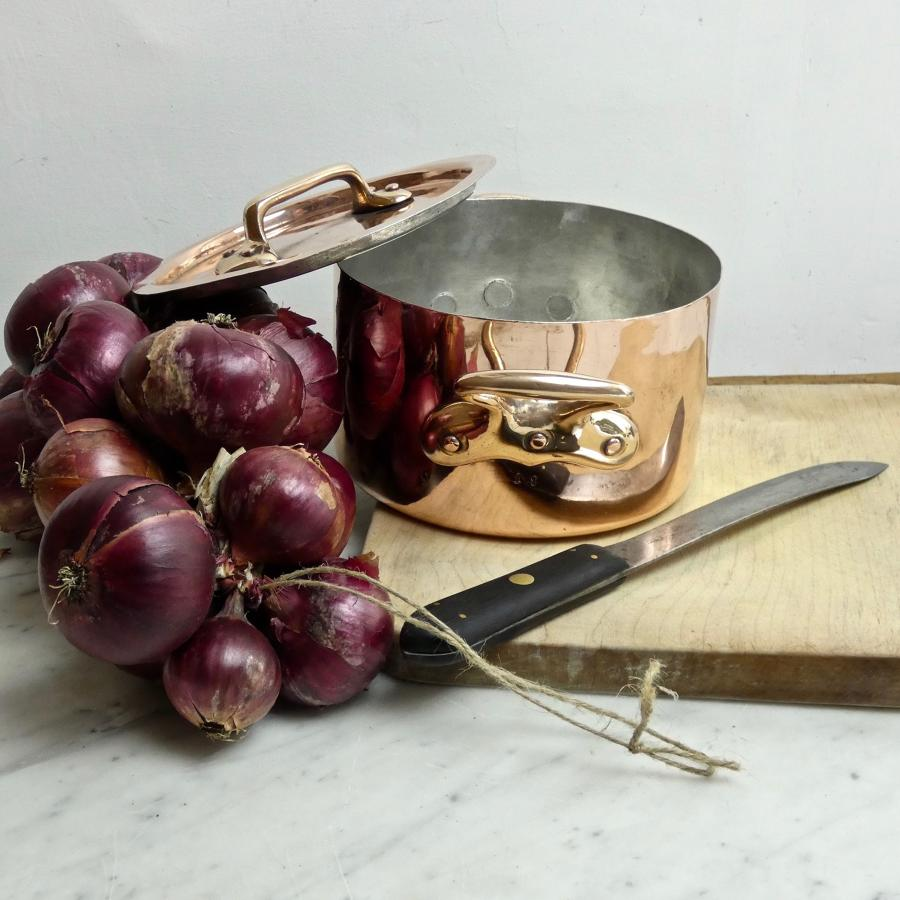 Small, French copper casserole